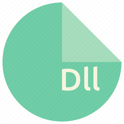 dll, extension, file, format, library, windows icon