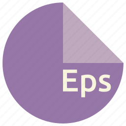 eps, extension, file, format, graphics, postscript, raster icon