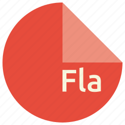 extension, file, fla, format icon
