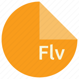 extension, file, flash, flv, format, video icon