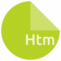document, extension, file, format, htm, web icon