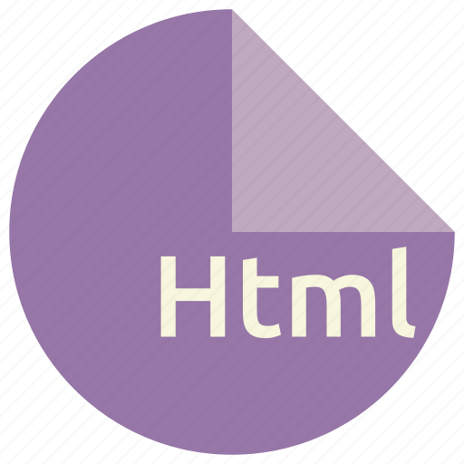 document, extension, file, format, html, internet, web icon