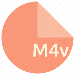 extension, file, format, m4v, multimedia icon