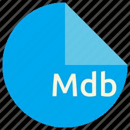 database, extension, file, format, mdb, microsoft icon