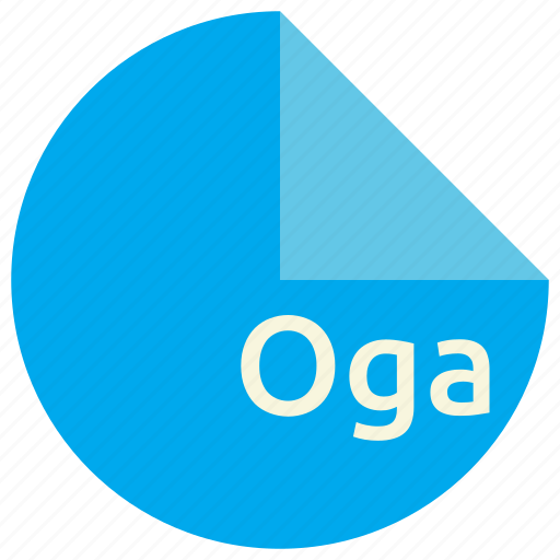 audio, extension, file, format, oga, open, standard icon