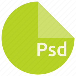 document, extension, file, format, photoshop, psd icon