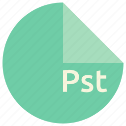 extension, file, format, pst icon