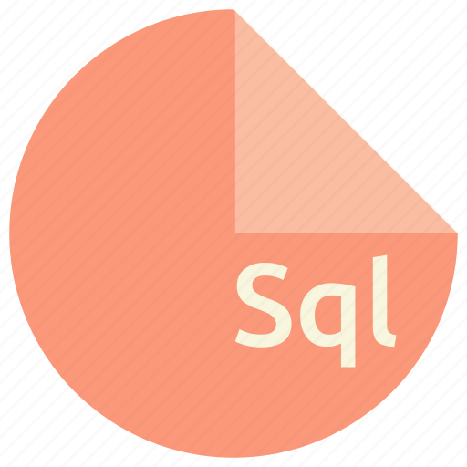 database, extension, file, format, sql icon