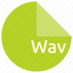 audio, extension, file, format, wav icon