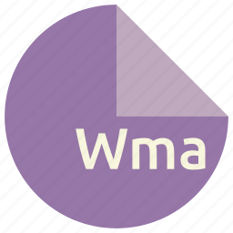 extension, file, format, multimedia, wma icon
