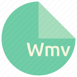 extension, file, format, multimedia, wmv icon