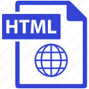 file, format, html, document, extension