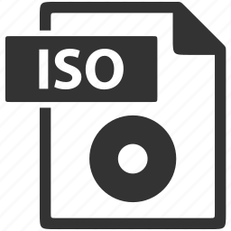 document, extension, file, format, iso icon