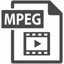 document, extension, file, format, mpeg icon