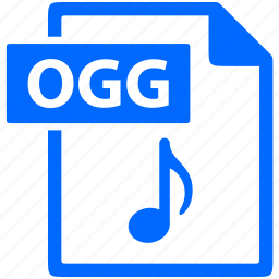 document, extension, file, format, ogg icon