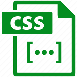css, document, extension, file, format icon