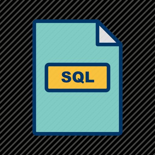 file extension, file format, sql icon