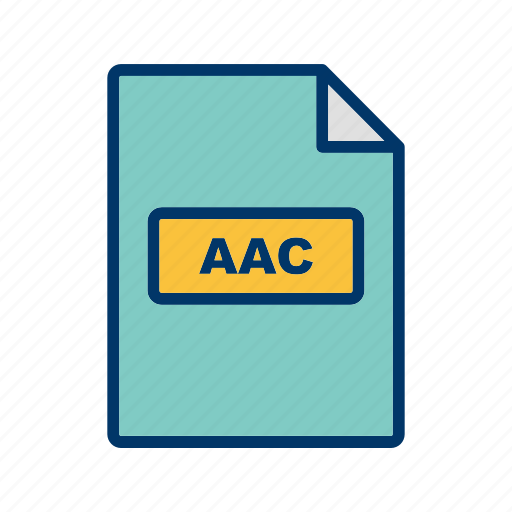 aac, file, file extension, format icon