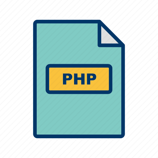 file, file extension, format, php icon