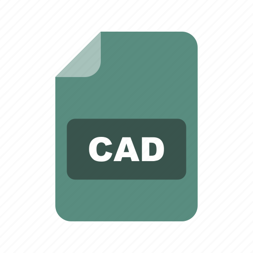 cad, file extension, file format icon