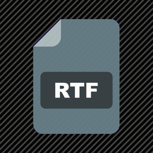 file, file extension, format, rtf icon