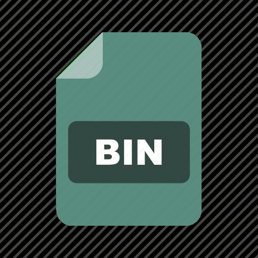 bin, file extension, file format icon