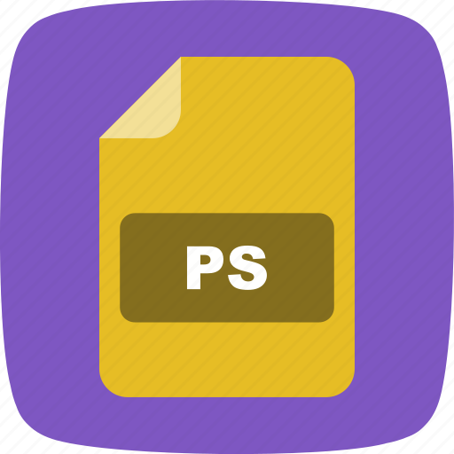 file, file extension, format, ps icon