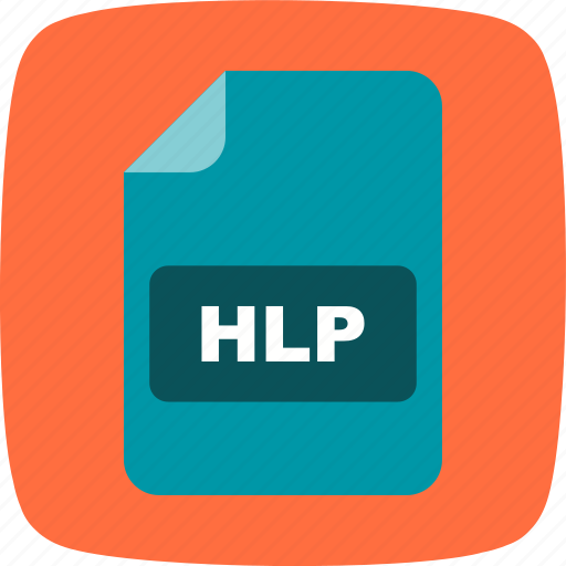 file, file extension, format, hlp icon