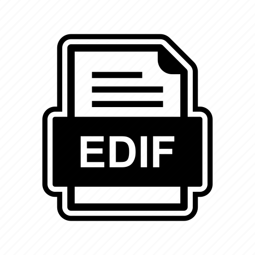 document, edif, file, format icon