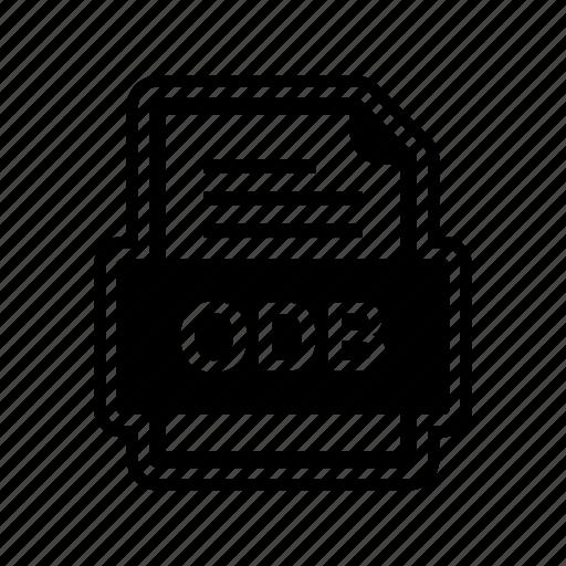 document, file, format, odb icon