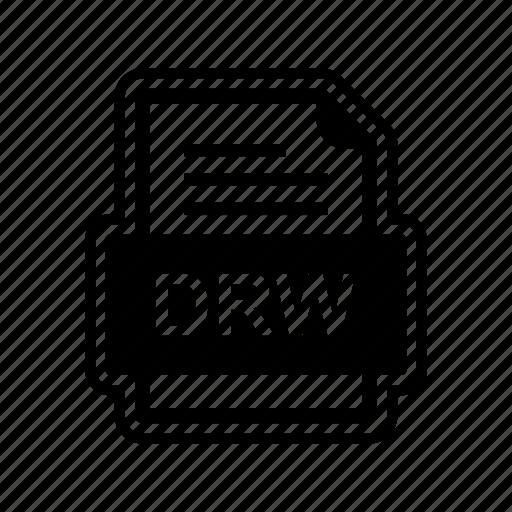 document, drw, file, format icon