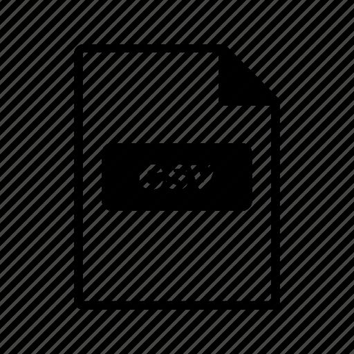 csv, file extension, file format icon
