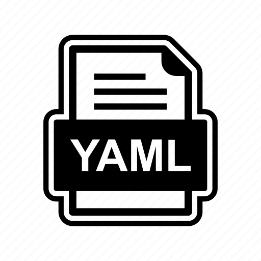 document, file, format, yaml icon