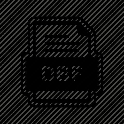 dbf, document, file, format icon
