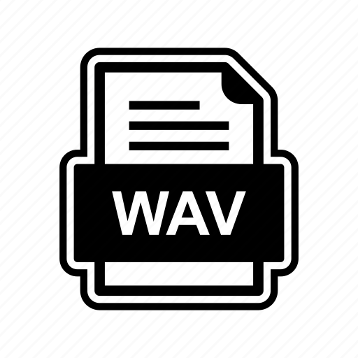 document, file, format, wav icon