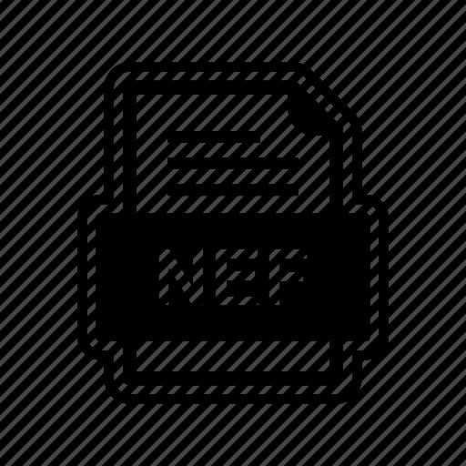 document, file, format, nef icon