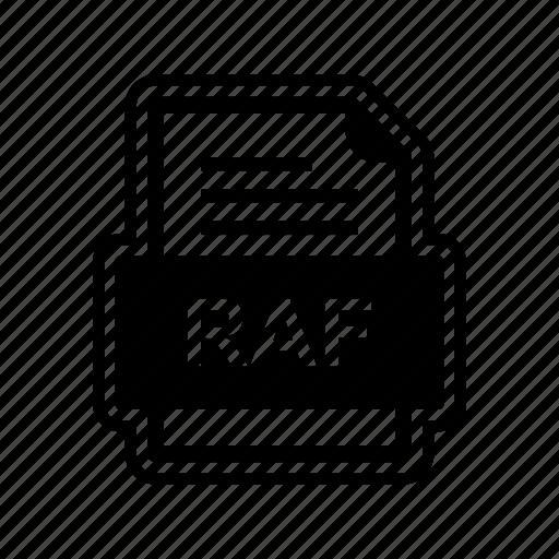 document, file, format, raf icon