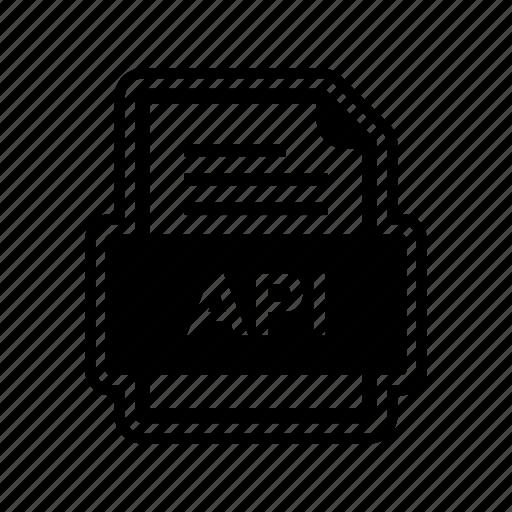 api, document, file, format icon