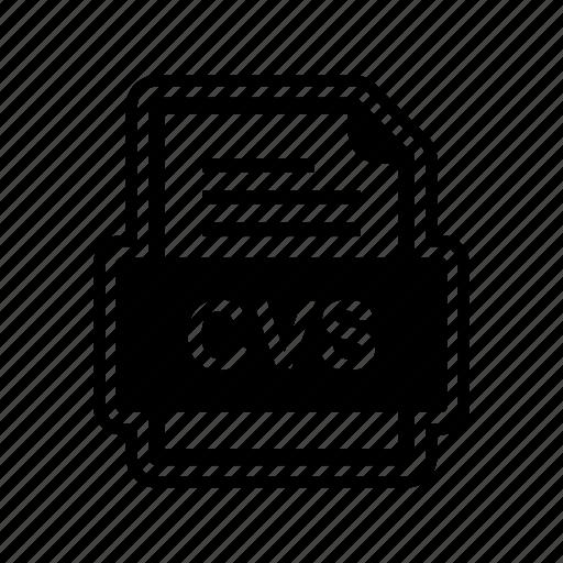 cvs, document, file, format icon