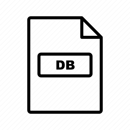 db, file, file extension, format icon