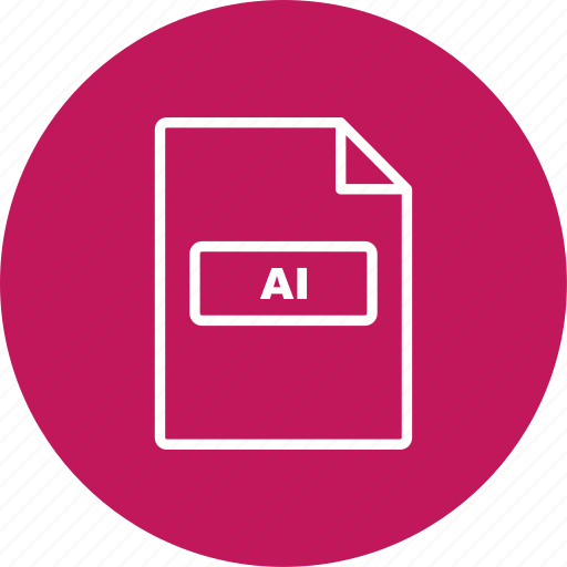 ai, file extension, file format icon