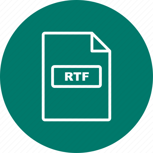 file, file extension, format, rtf icon