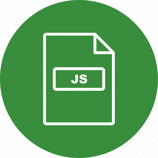 file, file extension, format, js icon
