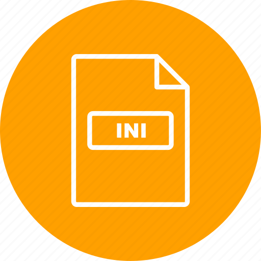 file extension, file format, ini icon