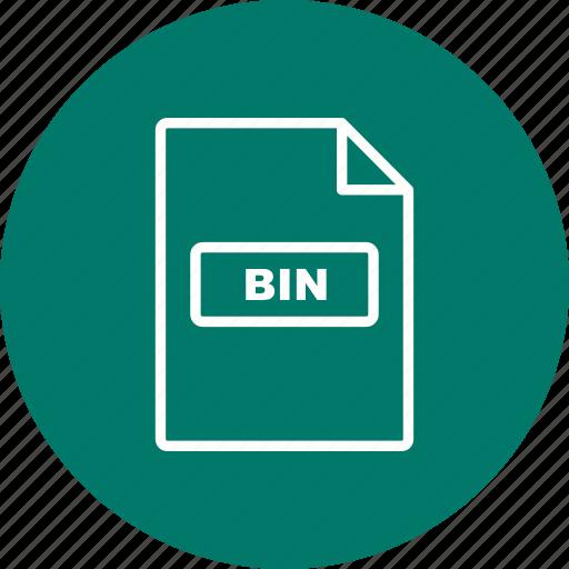 bin, file, file extension, format icon