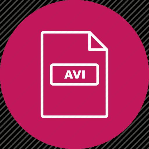 avi, file, file extension, format icon