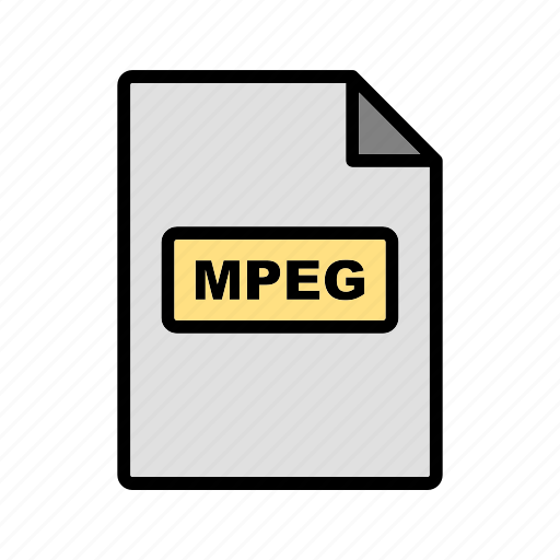 file, file extension, format, mpeg icon