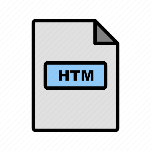 file extension, file format, htm icon