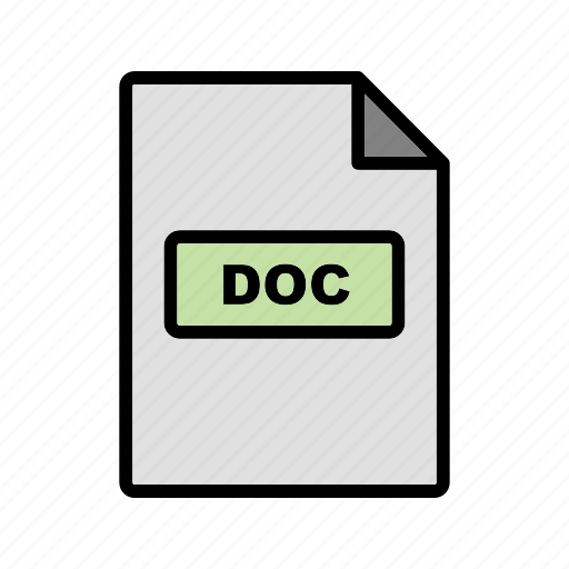 doc, file, file extension, format icon