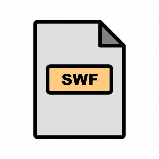 file, file extension, format, swf icon